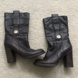 BCBG Generation chocolate brown heeled boots 7.5